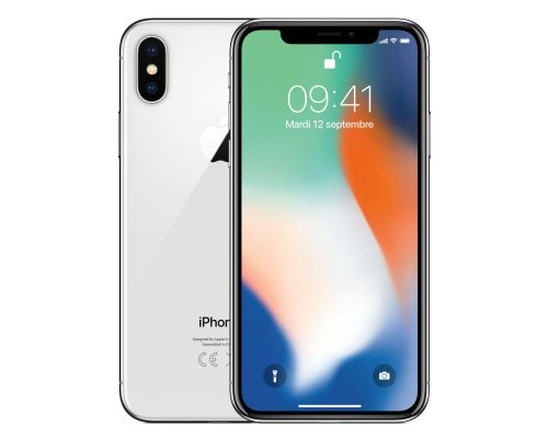 Un iPhone X Argent 64Go